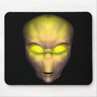Golden Alien Mouse Pad