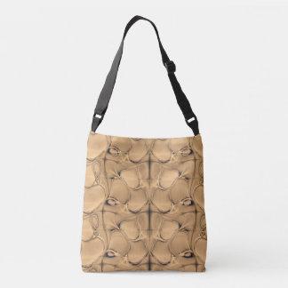 Golden  Alligator Crossbody Bag