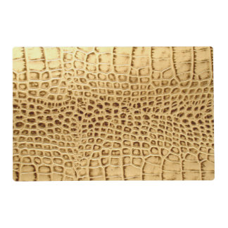 Golden Alligator Tooled Leather Placemat