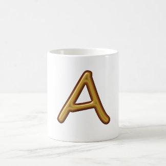 Golden Alphabet A AA AAA : Vintage Base Mugs