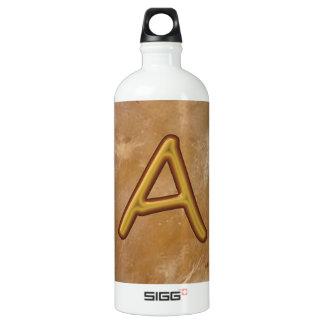 Golden Alphabet A AA AAA : Vintage Base SIGG Traveler 1.0L Water Bottle