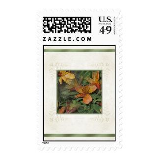 Golden Alstroemeria Blooms Postage Stamps