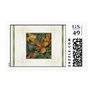 Golden Alstroemeria Blooms Postage