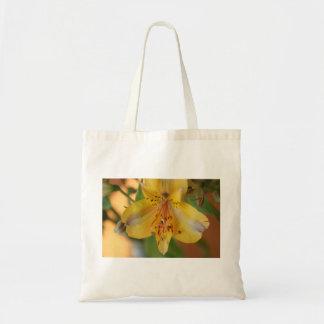 Golden Alstroemeria Flower Tote Bag