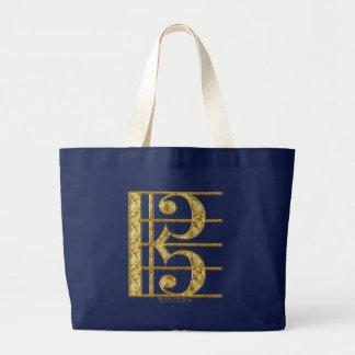 Golden Alto Clef Canvas Bag