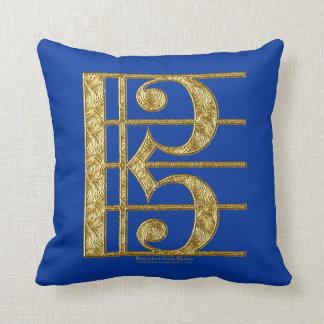 Golden Alto Clef Pillow