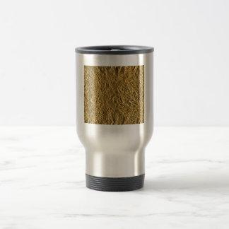 Golden Aluminium Background Travel Mug