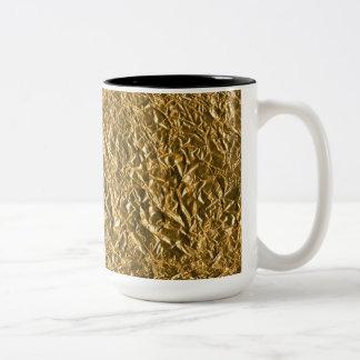 Golden Aluminium Background Two-Tone Coffee Mug