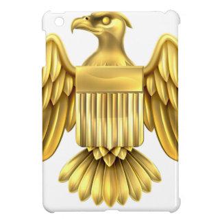 Golden American Eagle Shield Cover For The iPad Mini
