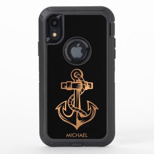Golden Anchor Phone Case