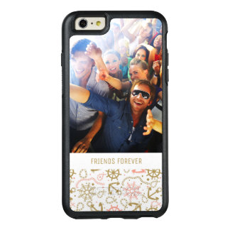 Golden Anchor Pattern | Your Photo & Text OtterBox iPhone 6/6s Plus Case