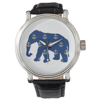 Golden Anchors Elephant Watches