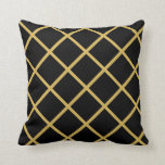 Golden and Black Classic Throw Pillow