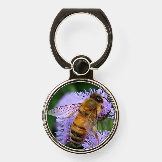 Golden and Black Honey Bee Phone Ring Holder