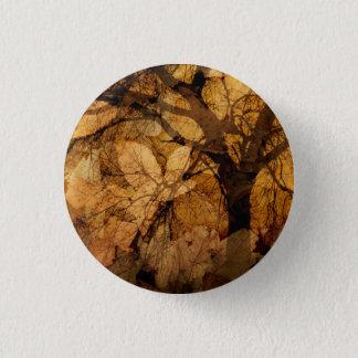 Golden and Brown Leaves | Merritt Island, FL Pinback Button