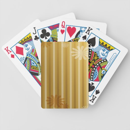 Golden and Brown Stripes Bicycle Card Decks