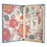 Golden and purple peonies pattern iPad air case