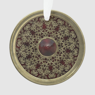 Golden and Red Ornament