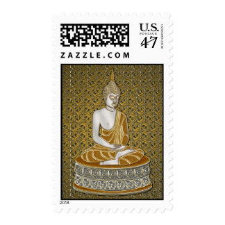 Golden and Silver Buddha postage