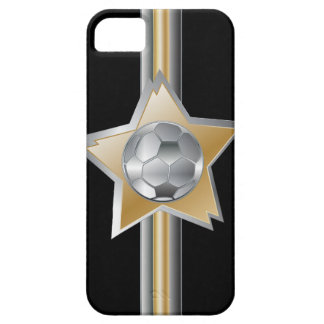Golden and silver effect Soccer ball Star iPhone 5 Cases