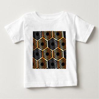 Golden and silver hexagonal background baby T-Shirt