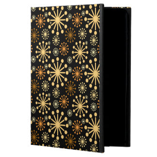 Golden and Silver Snowflakes Pattern Festive Cover For iPad Air
