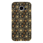 Golden and Silver Snowflakes Pattern Festive Samsung Galaxy S6 Case