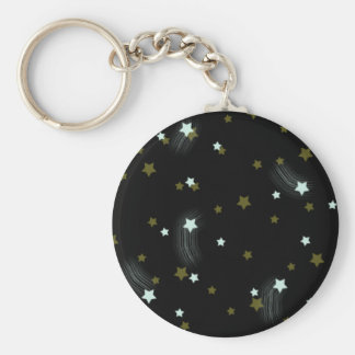 Golden and White falling Stars Keychain
