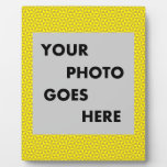 Golden and yellow triangles pattern display plaque