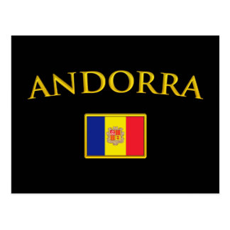 Golden Andorra Postcard