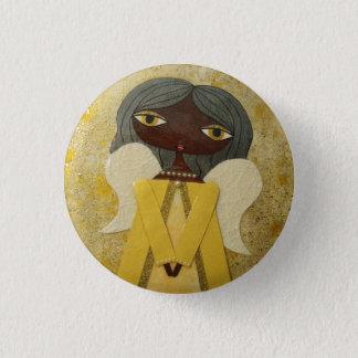 """Golden Angel"" 1"" Button by Sunny Crittenden!"