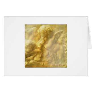 Golden Angel 2 Stationery Note Card
