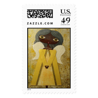 """Golden Angel"" 49 Cent Denomination Postage Stamps"