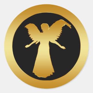 GOLDEN ANGEL CLASSIC ROUND STICKER
