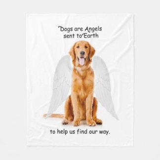 Golden Angel Fleece Blanket