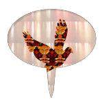 Golden ANGEL on Feathers ANGEL BIRD Goodluck gift Cake Topper