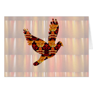 Golden ANGEL on Feathers ANGEL BIRD Goodluck gift Cards