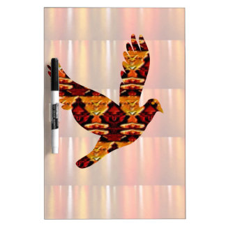 Golden ANGEL on Feathers ANGEL BIRD Goodluck gift Dry Erase Whiteboards