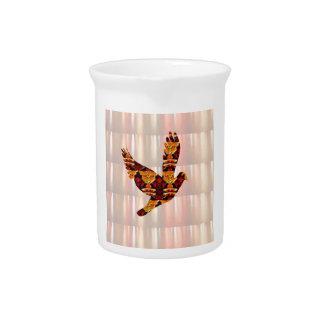 Golden ANGEL on Feathers ANGEL BIRD Goodluck gift Pitchers