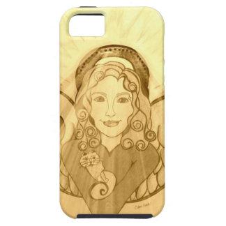 Golden Angel wth cat iPhone SE/5/5s Case