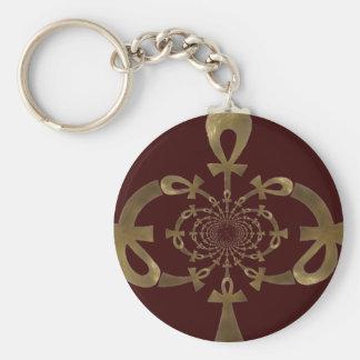 Golden Ankh design (Egyptian) Key Chains