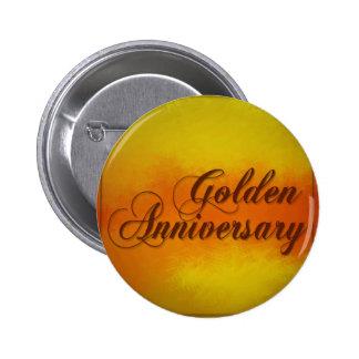 Golden Anniverary 2 Inch Round Button