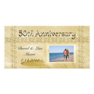 Golden Anniversary Bands Of Love Card