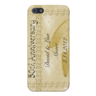 Golden Anniversary Bands Of Love Set Case For iPhone SE/5/5s