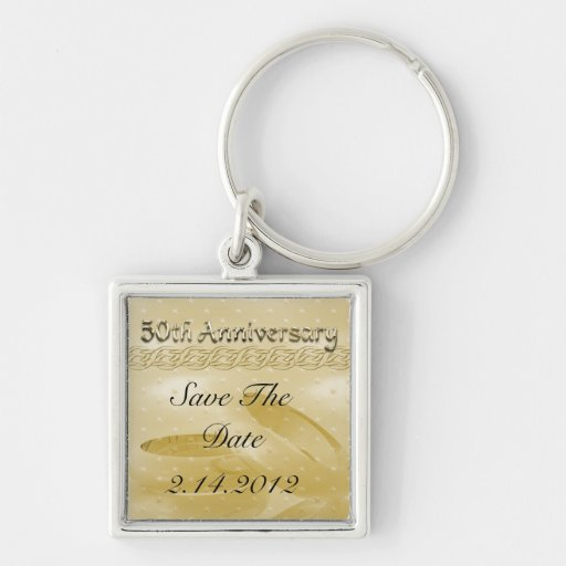 Golden Anniversary Bands Of Love Set Key Chain