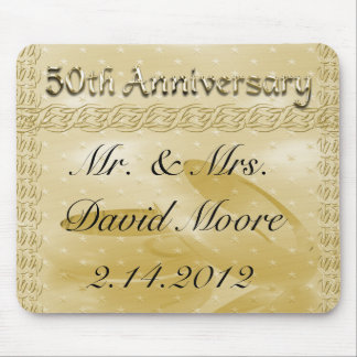 Golden Anniversary Bands Of Love Set Mouse Pad