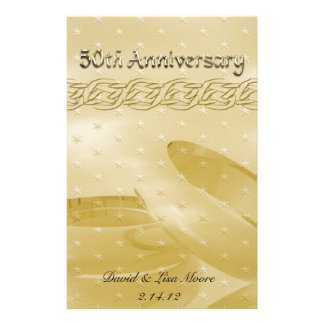 Golden Anniversary Bands Of Love Set Stationery