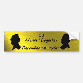 GOLDEN ANNIVERSARY-BUMPER STICKER