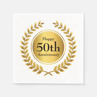 Golden Anniversary Celebration Paper Napkin