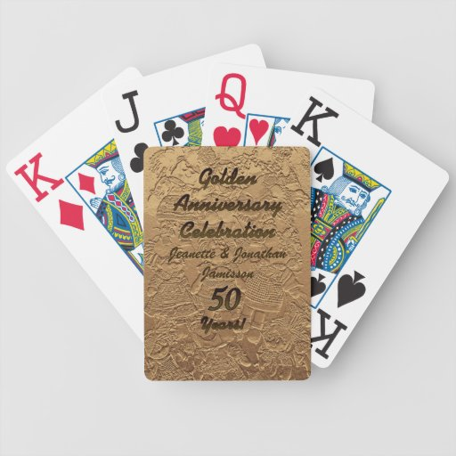 Golden Anniversary Celebration Playing Cards Large